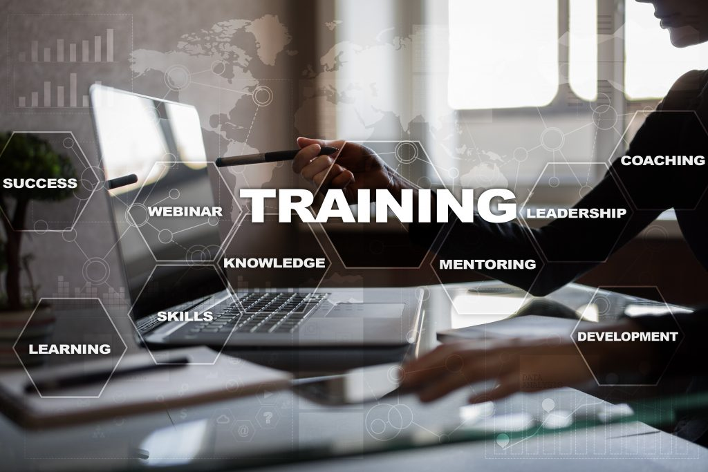 Training and development Professional growth. Internet and education concept.