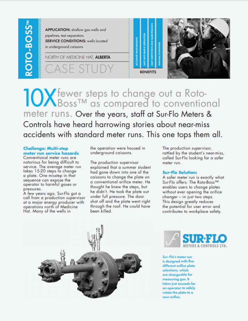 CASE STUDY - Roto-Boss Multi-step Meter Run Service Hazards