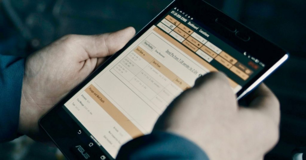 EZ Ops Case Study EnergyNow sponsored article - EZ Ops software on tablet