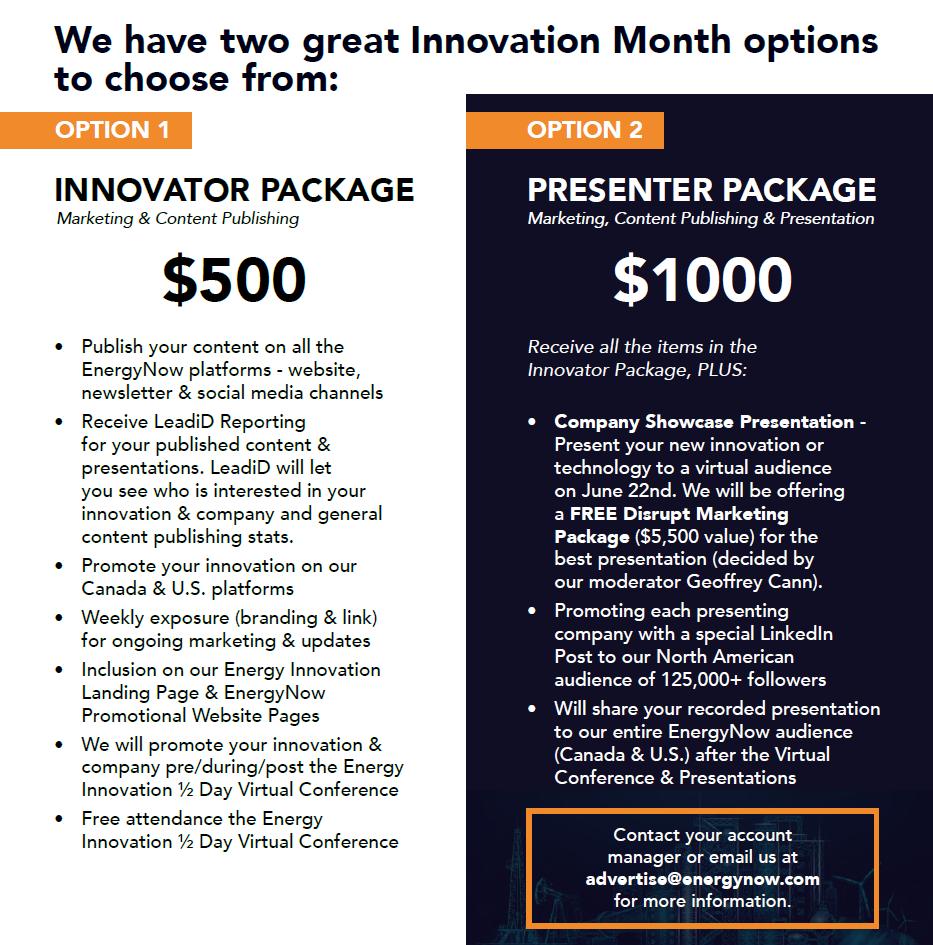 Energy Innovation Month - Pricing V3