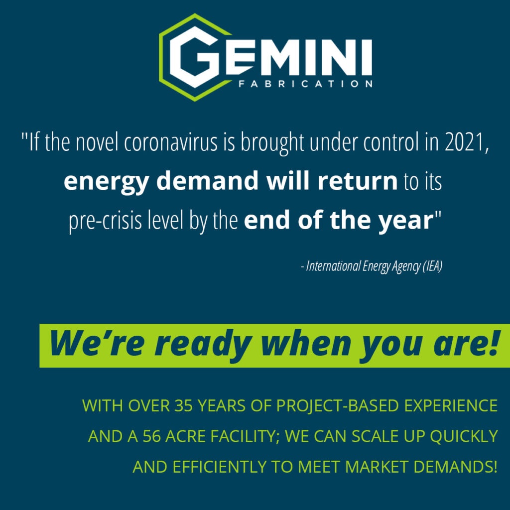 FEELING OPTIMISTIC AS OIL PRICES ARE ON THE RISE gemini Fabrication 2