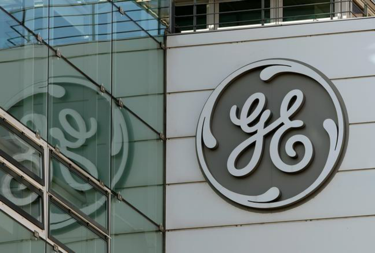 The logo of General Electric is seen at its plant in Baden, Switzerland November 15, 2017. REUTERS/Arnd Wiegmann