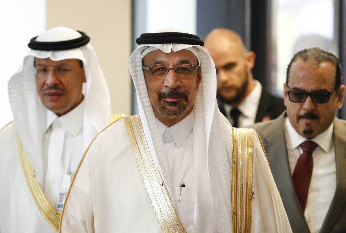 Khalid Al-Falih, Saudi Arabia's energy and industry minister, arrives ahead of the 174th Organization Of Petroleum Exporting Countries (OPEC) meeting in Vienna, Austria, on Friday, June 22, 2018. Photographer: Stefan Wermuth/Bloomberg