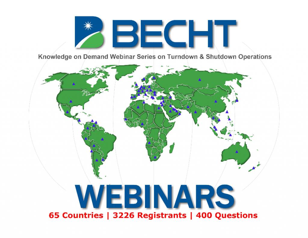 Knowledge-on-Demand Turndown and Shutdown Considerations Webinar Series Becht