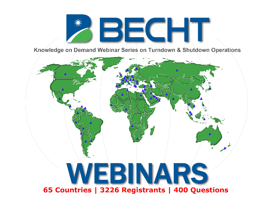 Knowledge-on-Demand Turndown and Shutdown Considerations Webinar Series Becht