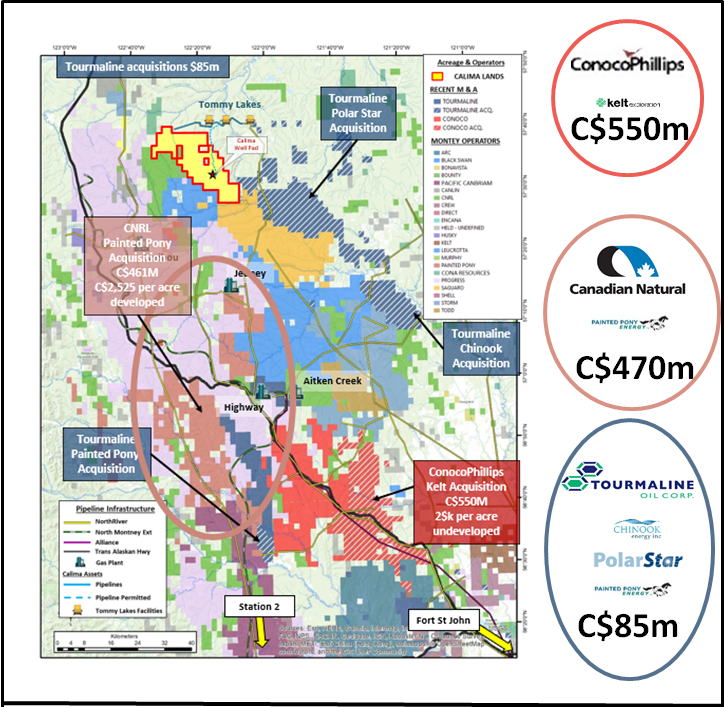 Major Energy Companies Jostling for Ground in the Montney, but Small Cap Calima Energy Stands Alone 2