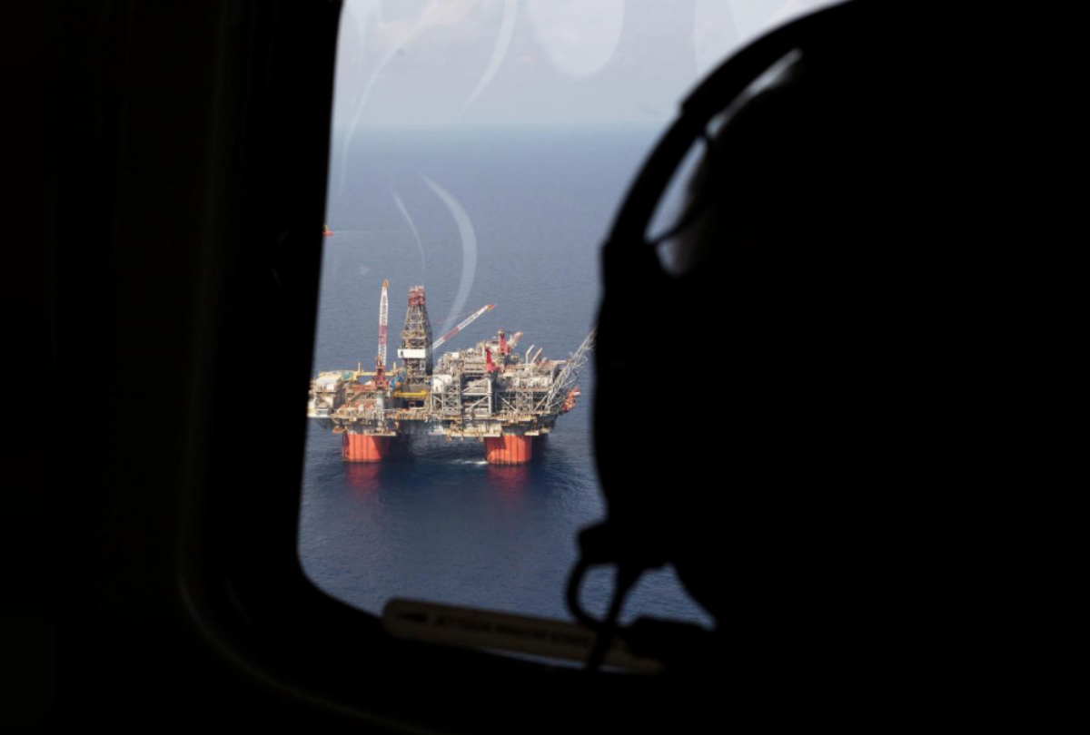 FILE PHOTO: Representative Steve Scalise (R-LA) views BP's Thunder Horse Oil Platform in the Gulf of Mexico, from the air, 150 miles from the Louisiana coast in this May 11, 2017 handout photo obtained by Reuters June 26, 2017. Chris Bond/Handout via REUTERS