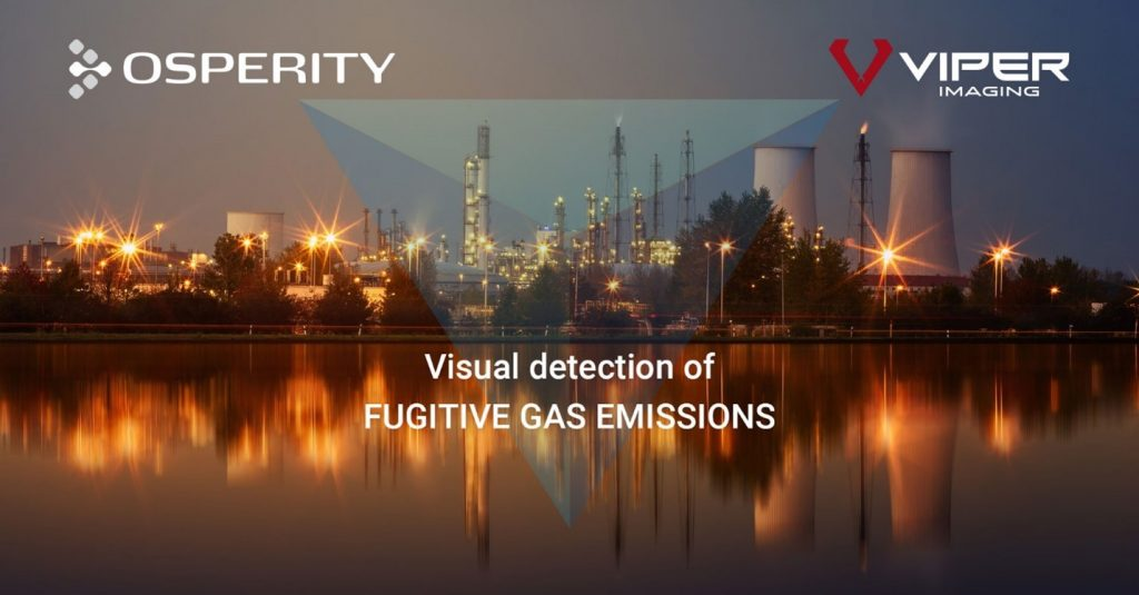 Osperity now offers visual detection of FUGITIVE GAS EMISSIONS, such as Methane, through its intelligent visual monitoring platform