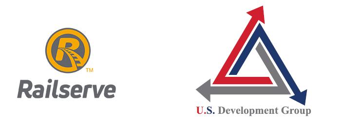 Railserve and USD Group Combination Logo