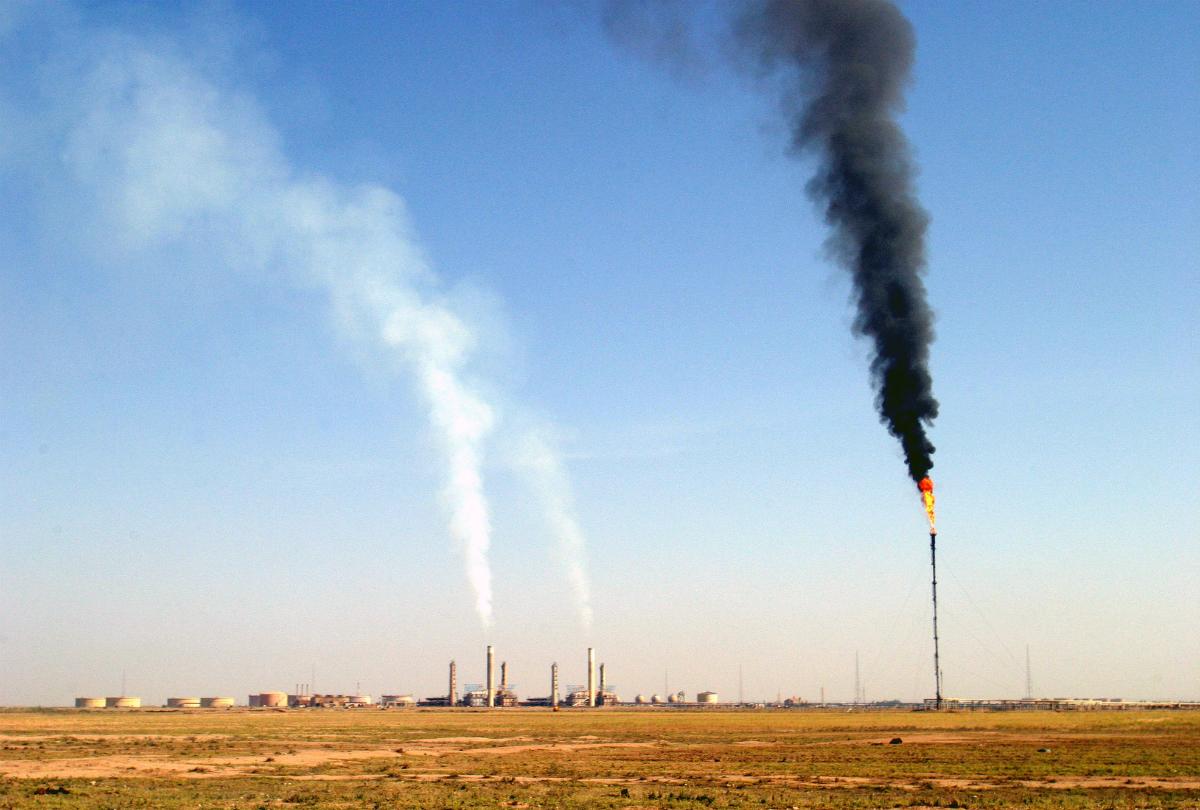 Refinery smoke