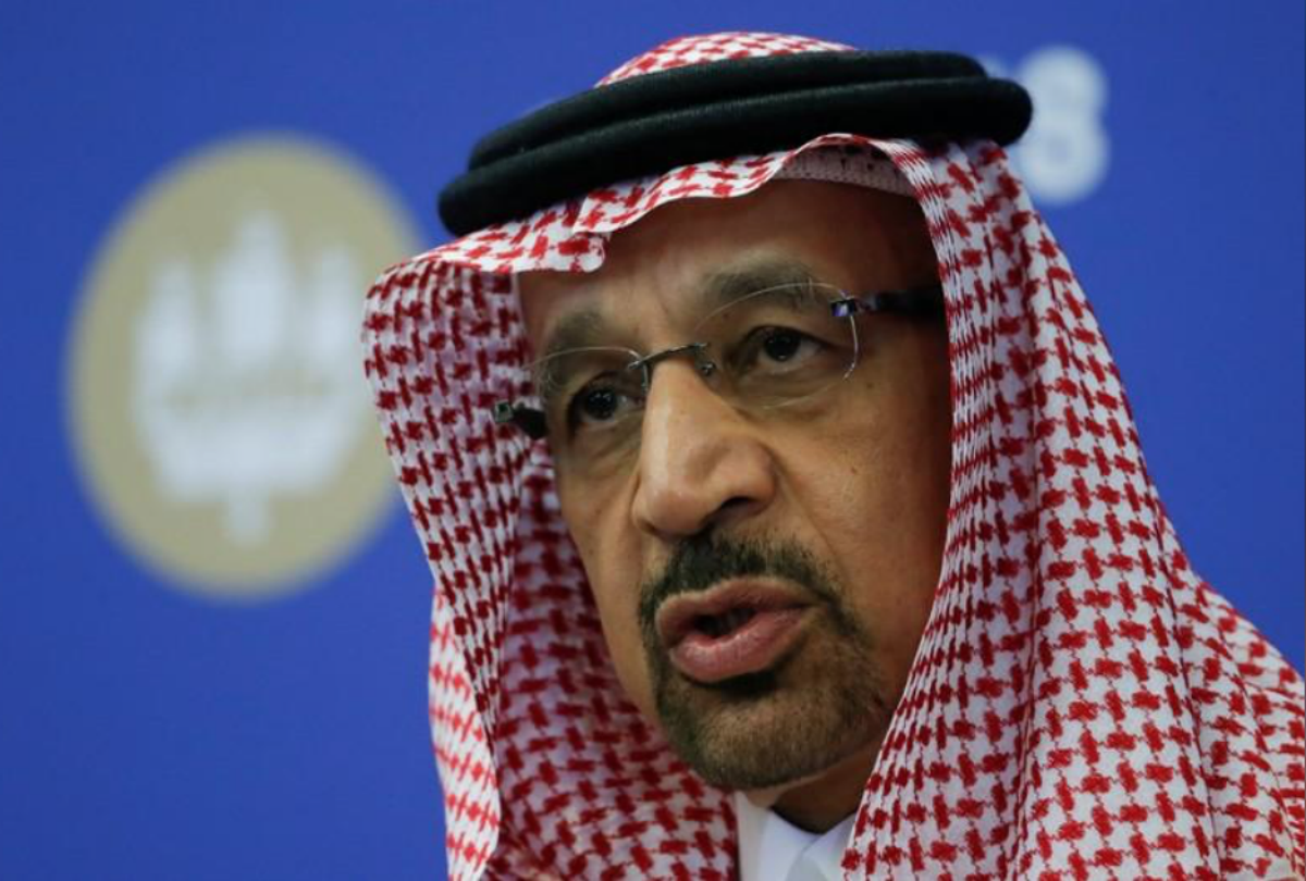 Saudi Energy Minister Khalid al-Falih attends a session of the St. Petersburg International Economic Forum (SPIEF), Russia May 25, 2018. REUTERS/Sergei Karpukhin