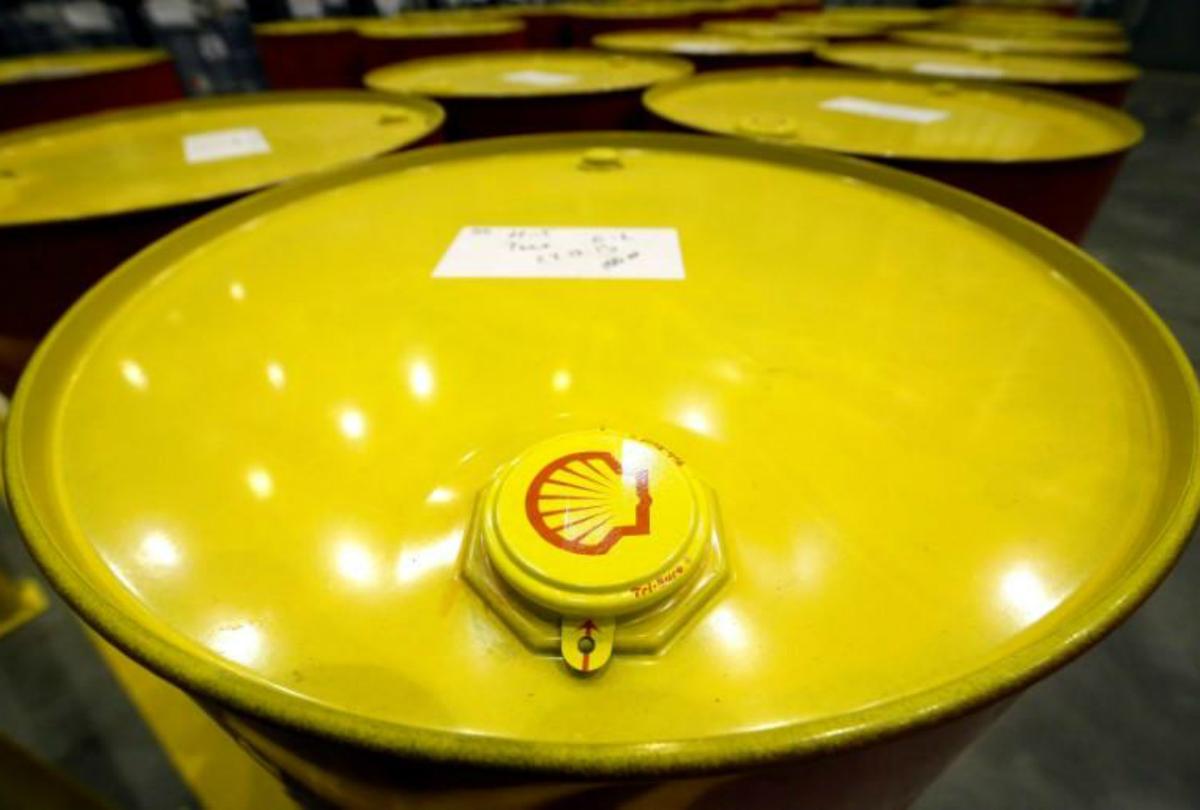 Yellow Shell Oil Barrels