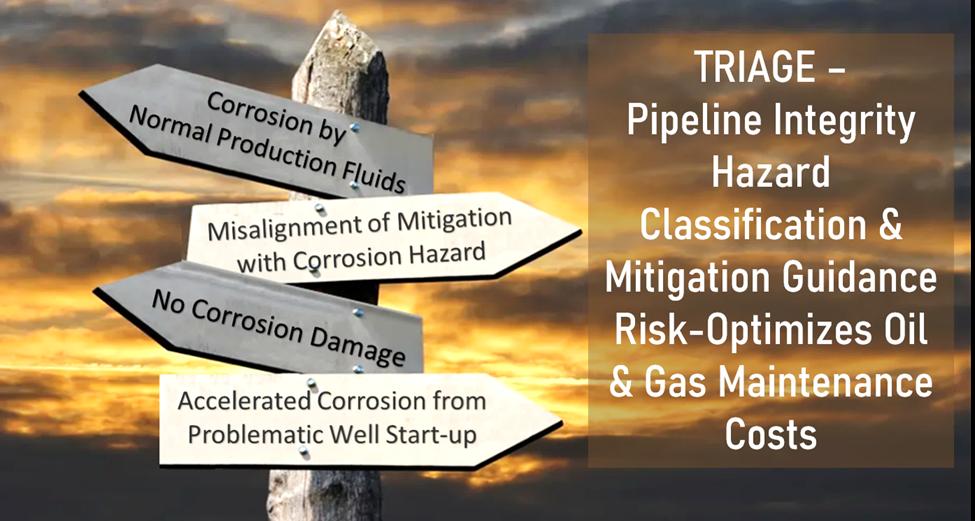 TRAIGE - Pipeline Integrity Hazard Classification & Mitigation Guidance Risk-Optimizes Oil & Gas Maintenance Costs Header
