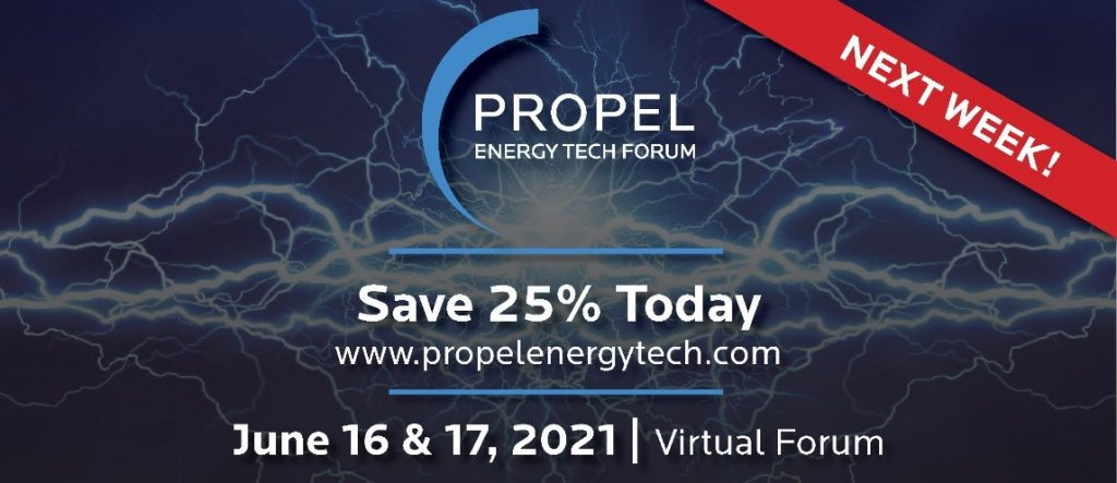 The PROPEL Energy Tech Forum is NEXT WEEK! Save 25% on Tickets!