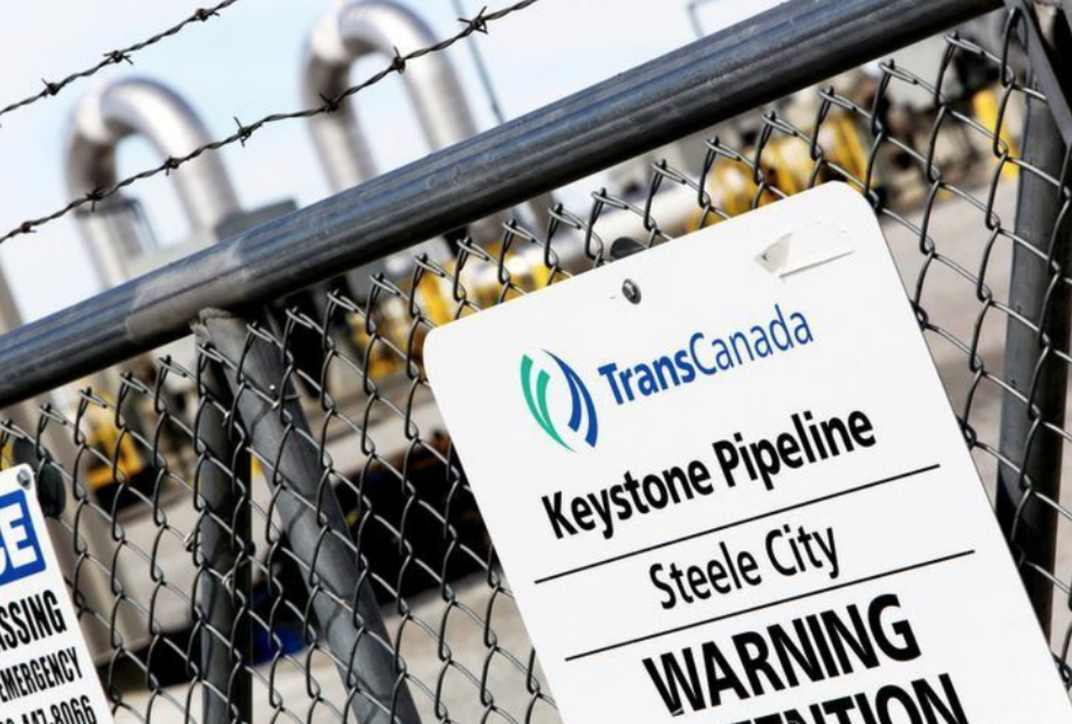 TranCanada Keystone XL Pipeline sign
