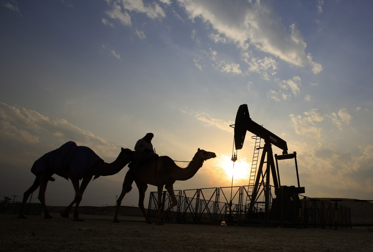 A desert oil field in the Sakhir area of Bahrain. The country ranks 57th in the list of oil producers. Photograph: Hasan Jamali/AP