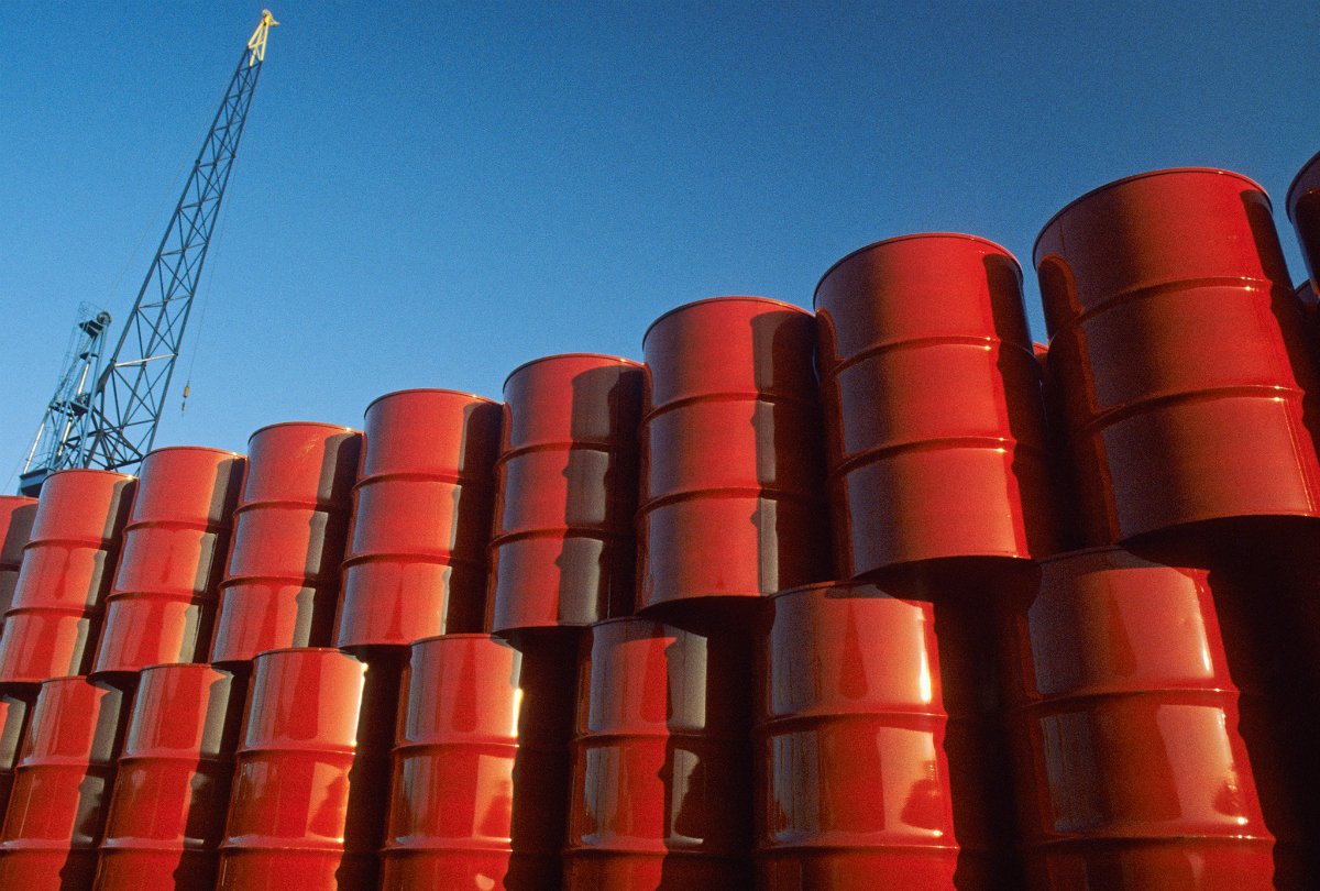 Red Oil Barrels
